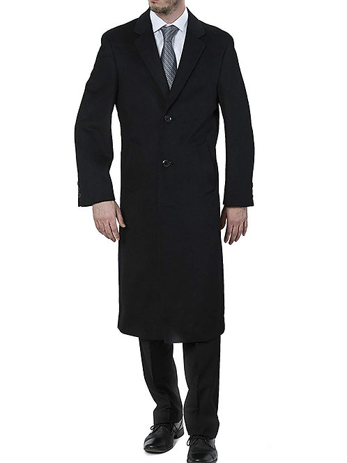Single Breasted Luxury Wool Full Length Topcoat