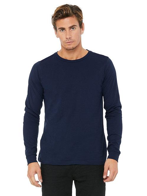 Custom Jersey Long-Sleeve T-Shirt - Navy