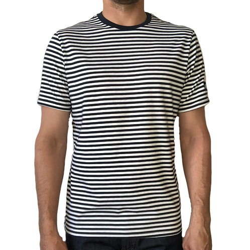 Loose-fit Striped T-Shirt - Navy/White