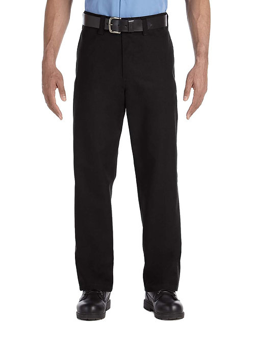 Industrial Flat Front Pant - Black
