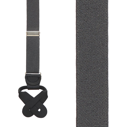 Button Suspender - Dark Grey
