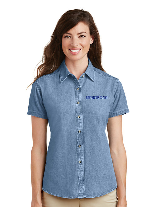 Short Sleeve Buttondown - Faded Blue