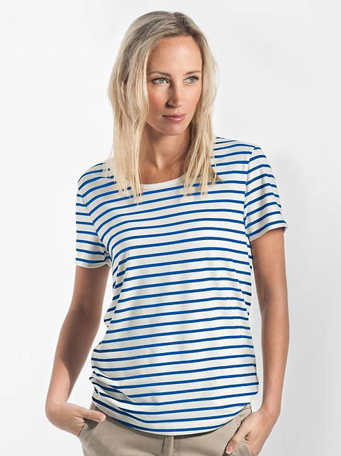 Riviera Striped T-Shirt - Cream & Royal
