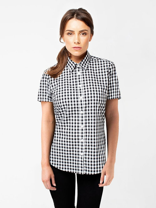 Frankie Short Sleeve Shirt - Black/White