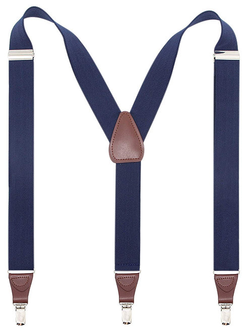 Y-Shape Suspenders - Navy