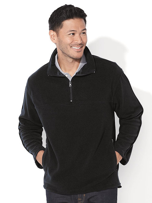 Quarter Zip Fleece Sweater - Black