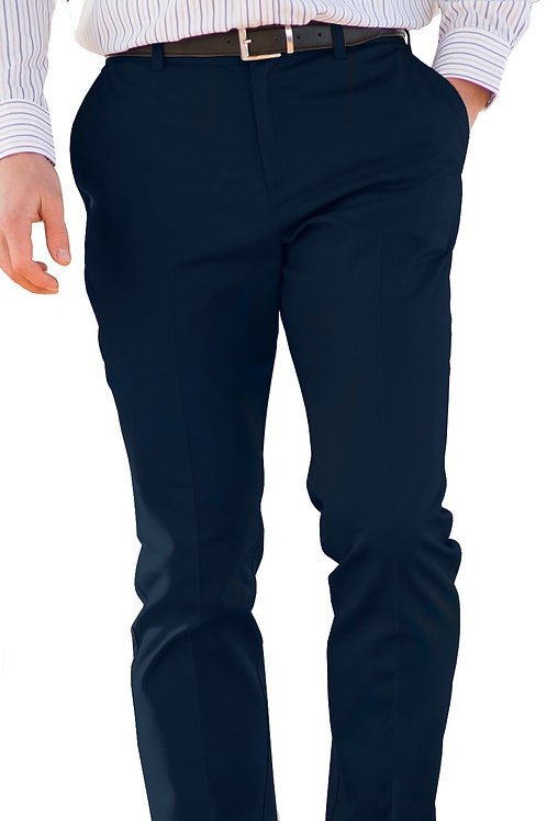 Slim Chino Flat Front Pant - Dark Navy