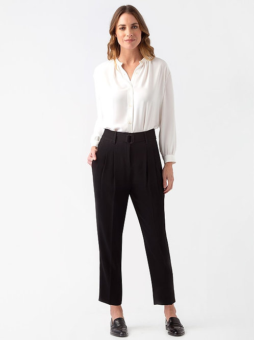 Taylor Pleat Pant - Black