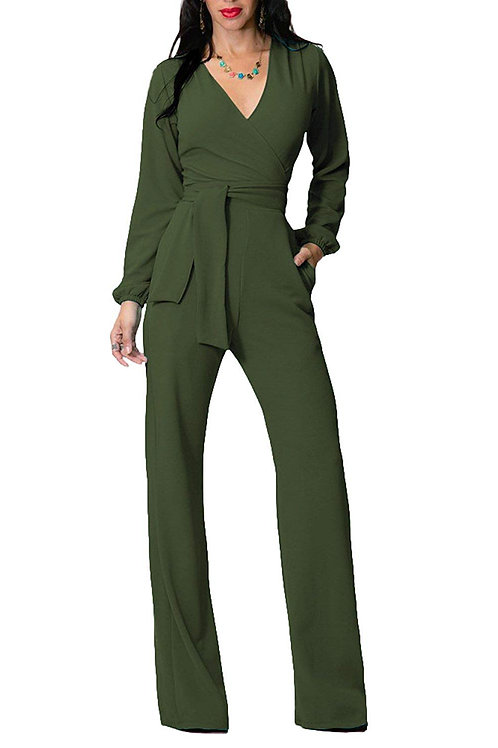 Jumpsuit Romper - Military Green