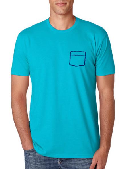 Pocket T-Shirt - Cyan
