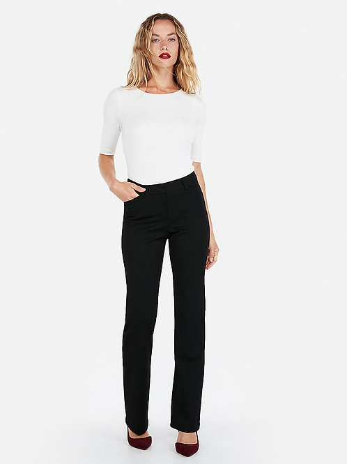 Mid Rise Curve Pant - Black