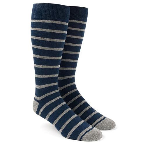 Classic Trad Stripe Socks - Navy