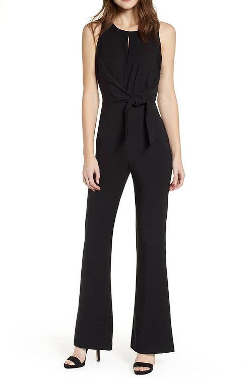 Tie Front Jumpsuit - Black