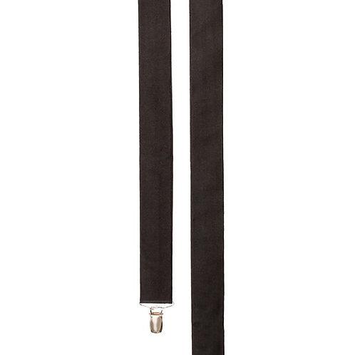 Clip Satin Suspender - Black