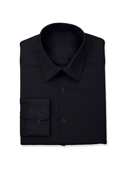 Gents' Slim Buttondown Shirt - Black