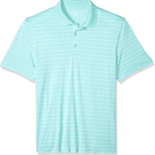 Gents Quick-Dry Golf Polo - Aqua Stripe