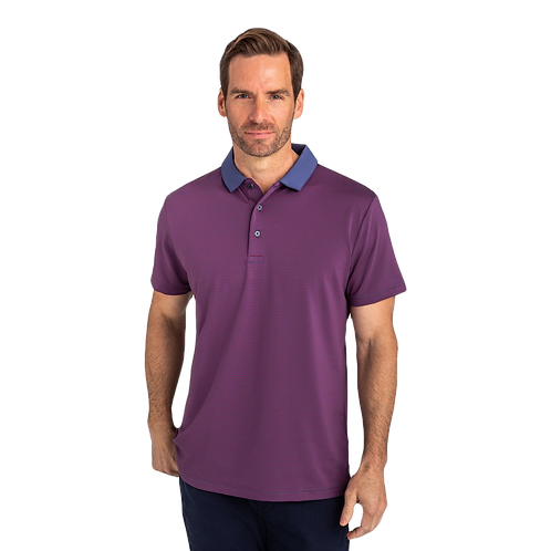 Gents Phil Mickelson Performance Polo - Red/Navy