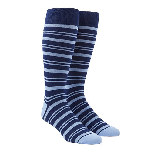 Path Stripe Socks - Light Blue