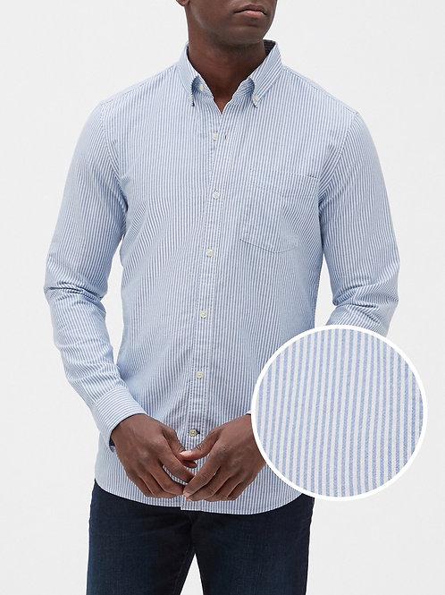Oxford Shirt in Slim Fit - Blue Stripe