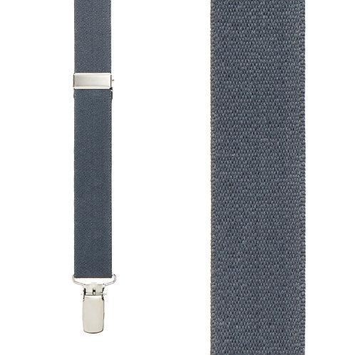 Clip Elastic Suspender - Dark Grey