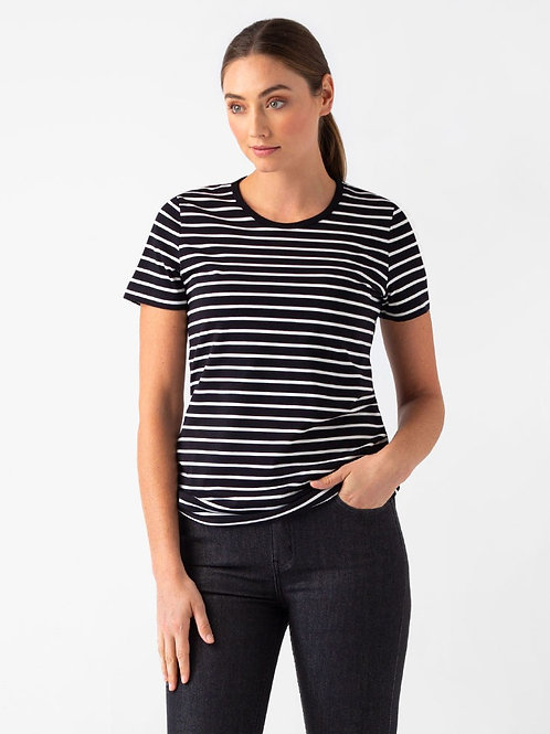 Riviera Striped T-Shirt - Black/White