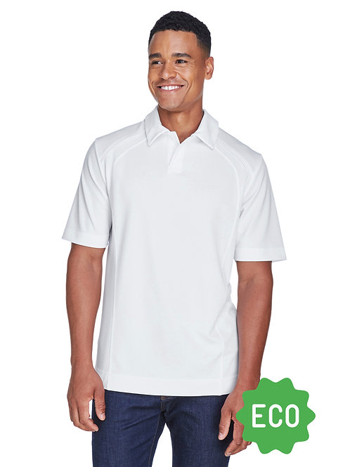 Recycled Polyester Performance Piqué Polo - White
