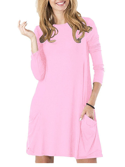 Tunic Dress - Pocket Pink