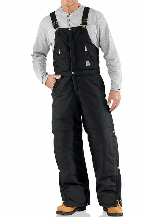 Gents Zip-to-Waist Biberall / Arctic Quilt Lined - Black