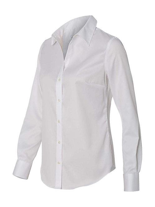Ladies' Slim Buttondown Shirt - White