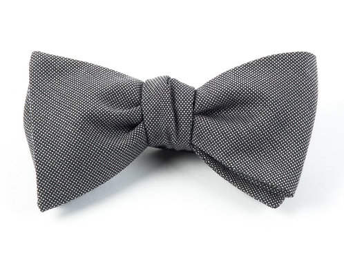 Downtown Solid Bow Tie - Grey