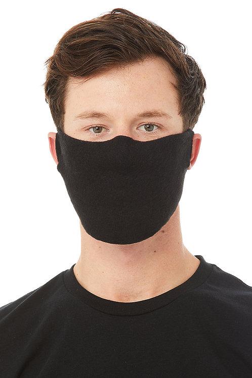 Fabric Face Cover - Black - Corvid-19 - Coronavirus - Front View