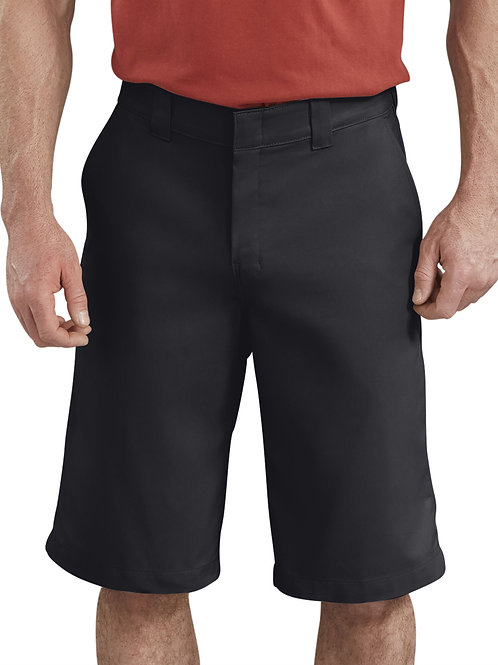 Active Waist Flat Front Short - Black