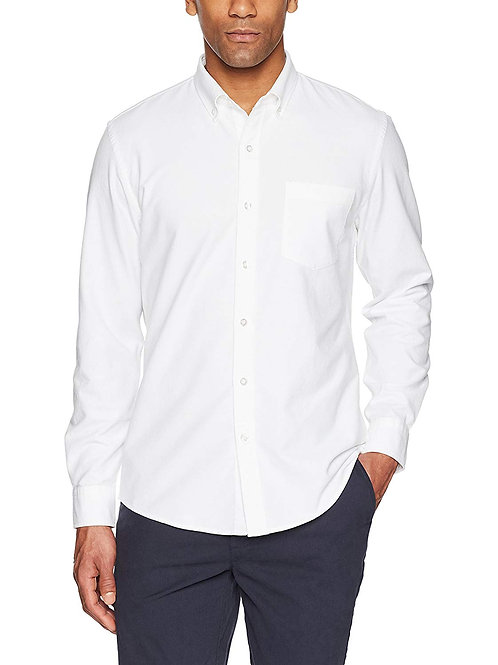 Solid Oxford - White