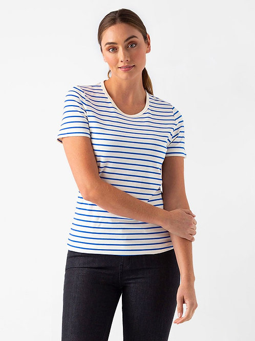 Riviera Striped T-Shirt - Cream/Royal