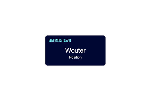 "1.5"" Name Badge - Navy"