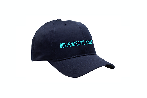 Fine Twill Cap with Buckle Closure - Navy