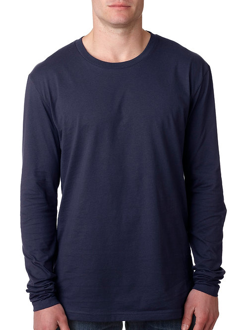 Cotton Long-Sleeve Crew - Midnight Navy