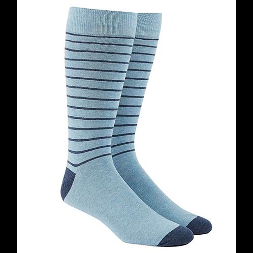 Woodland Stripe Socks - Light Blue/Navy