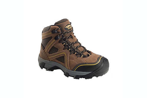Ladies Crosscut Leather Steel Toe Waterproof Boots - Brown