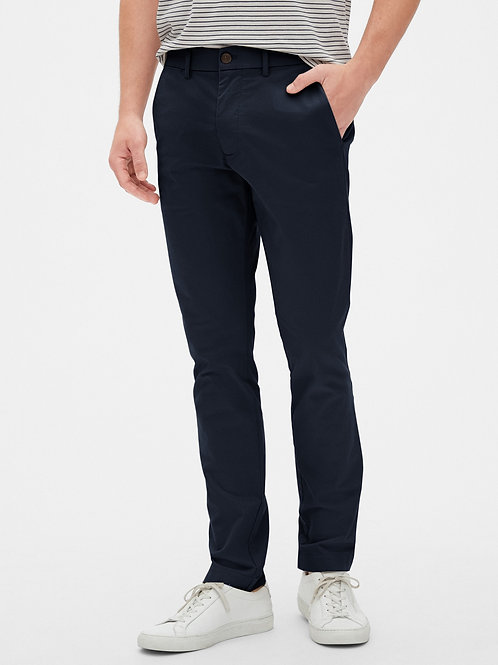Gents Modern Khakis in Skinny Fit - Navy
