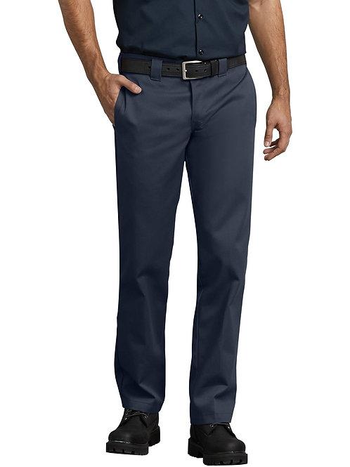 Slim Fit Straight Stretch Twill Pants - Dark Navy
