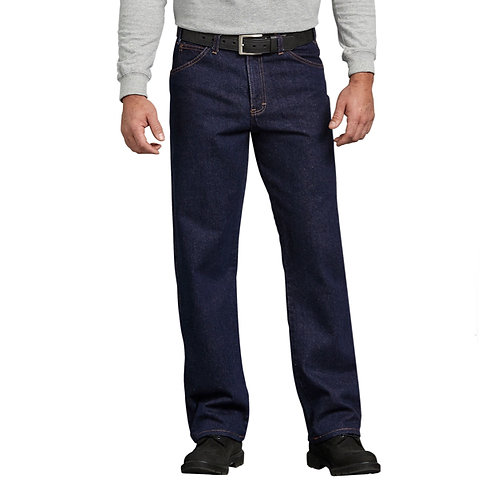 Dickies® Regular Straight Fit 5-Pocket Denim Jeans - Rinsed Indigo Blue