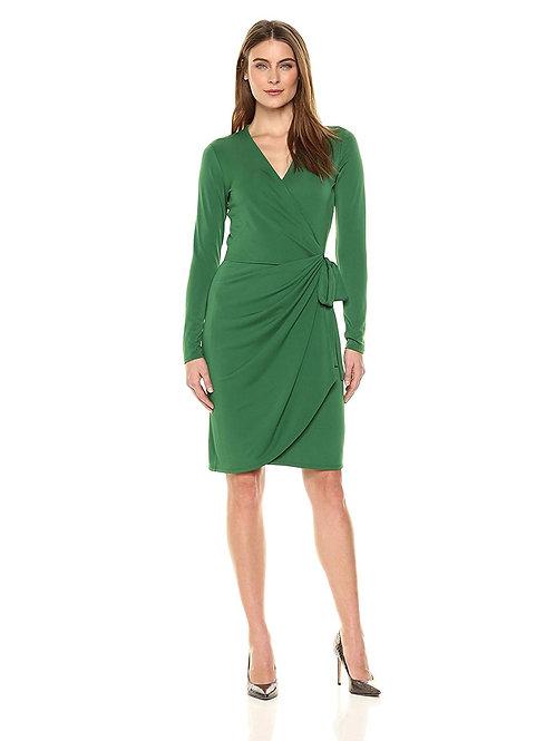 Classic Wrap Dress - Emerald