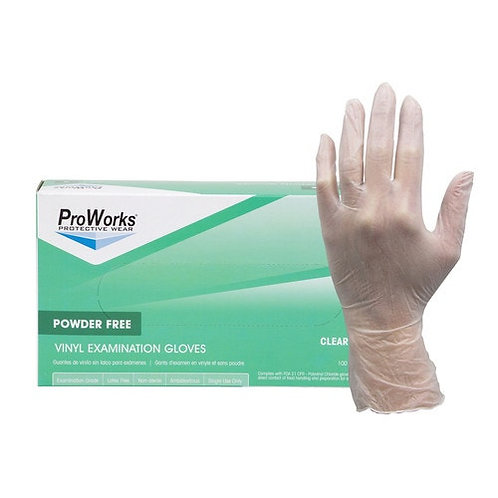 Powder-Free Vinyl Disposable Gloves, Quantity 1,000 - Clear, 4-mil