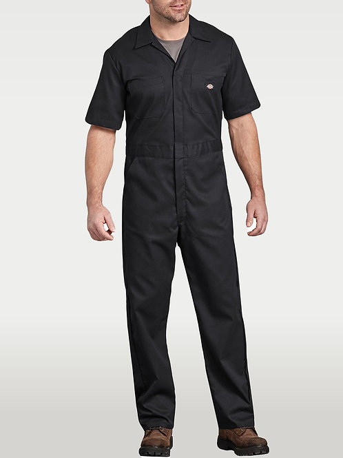 Short-Sleeve Coverall - Black