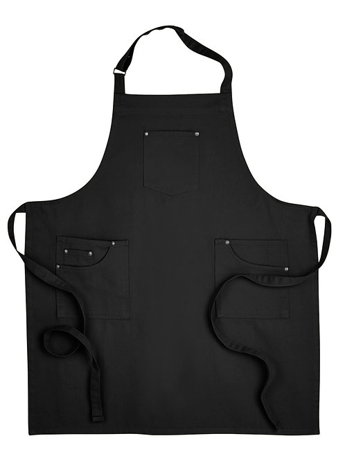 Cotton Chino Apron - Black