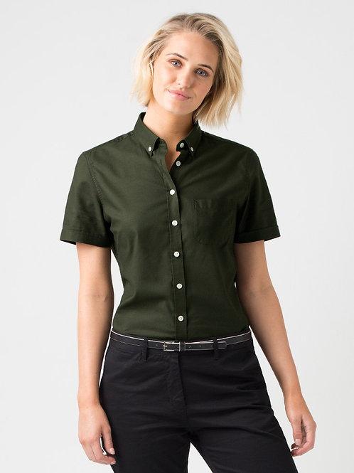 Smith Oxford Short Sleeve Shirt - Dark Green