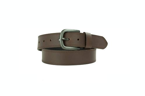 Jeans Belt with Stitch Design - Brown
