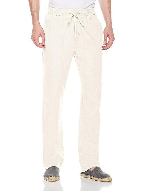 Casual Linen Pants - Beige