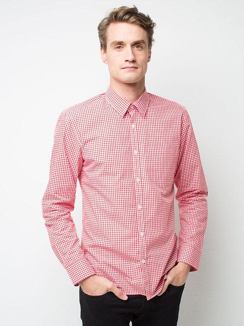 Max Check Long Sleeve Shirt - Red